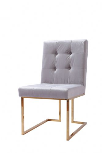 Italian Liang & Esta Gold / Grey Dining Chair